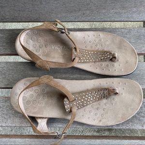 Vionic orthopedic tan strap sandals US 10